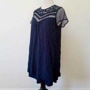 Target Dresses - Navy Lace Mini Dress with Short Sleeves